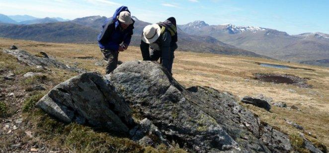Corrour rocks