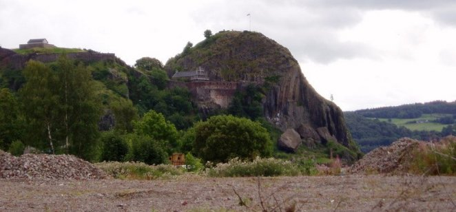 Fallen section of Dumbarton Rock