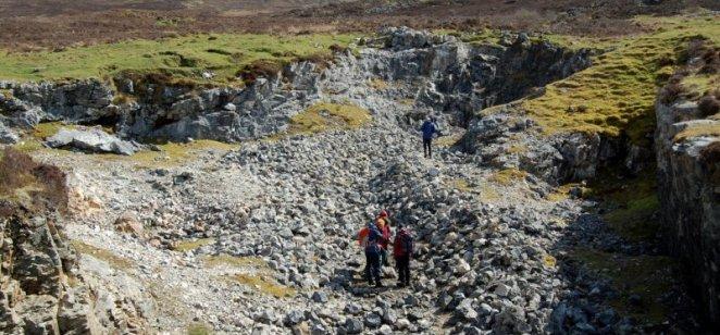"""Skye """"marble"""" quarry: Durness Limestone (Cambro-Ordovician)"""